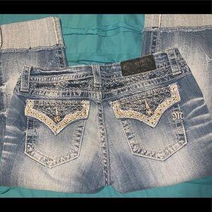 Miss Me Jeans Cuffed Capri - 29
